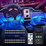Govee Car LED Lights, Car Interior Lights Upgrade 2 Line Design Waterproof 4pcs 48 LED Lighting Kits, LED Car Lights…