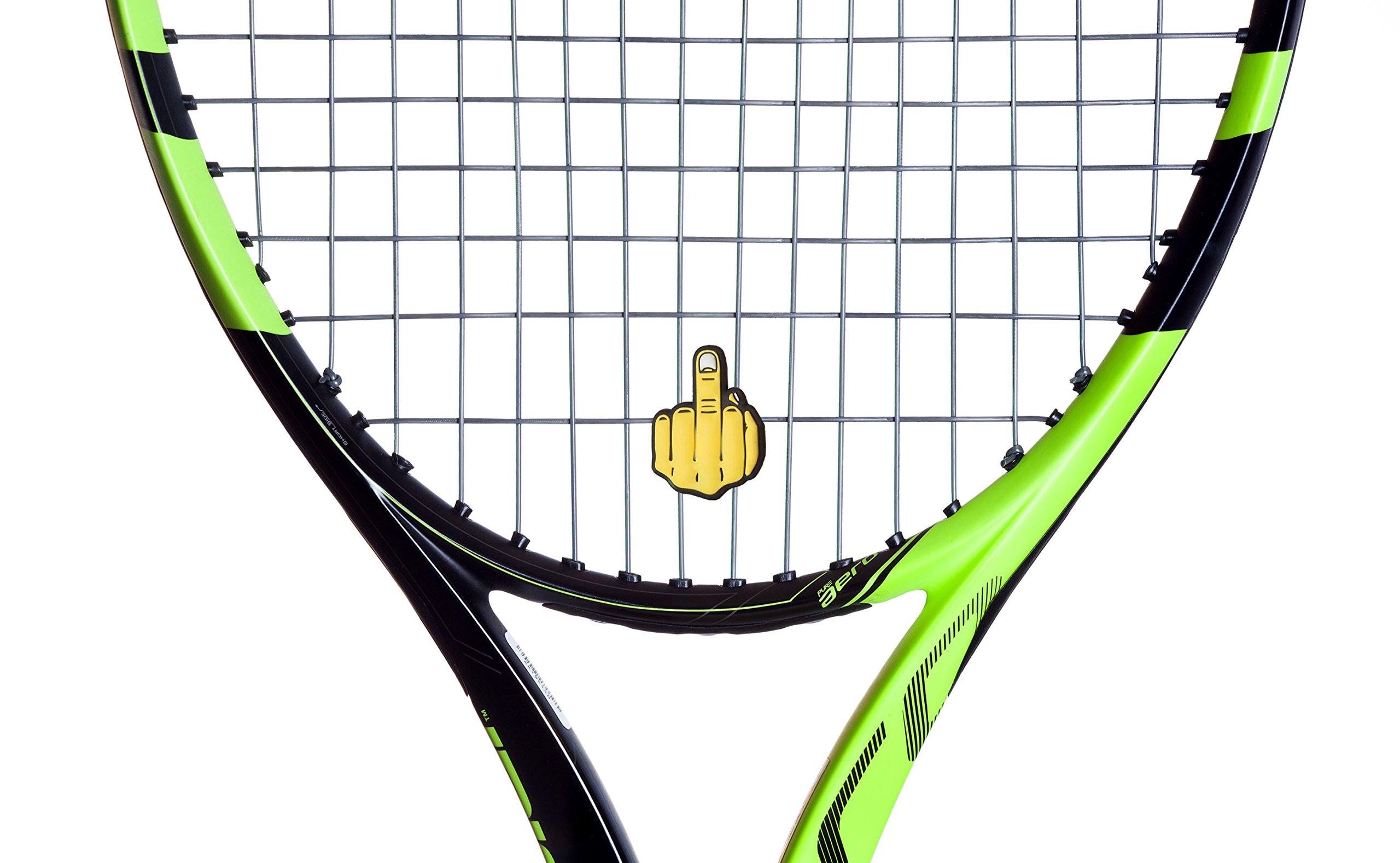 Tennis Vibration Dampener Middle Finger 2 Pack