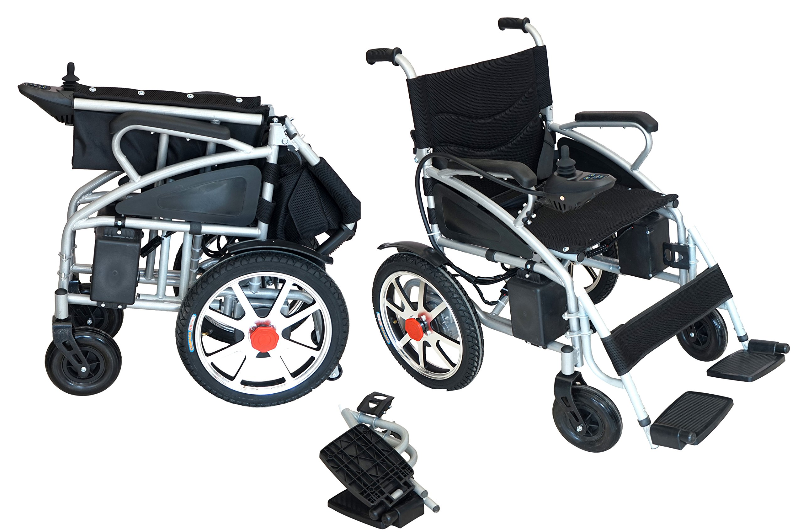 2018 NEW Comfy Go Electric Wheelchair - Foldable Lightweight Heavy Duty Electric Power Wheelchair