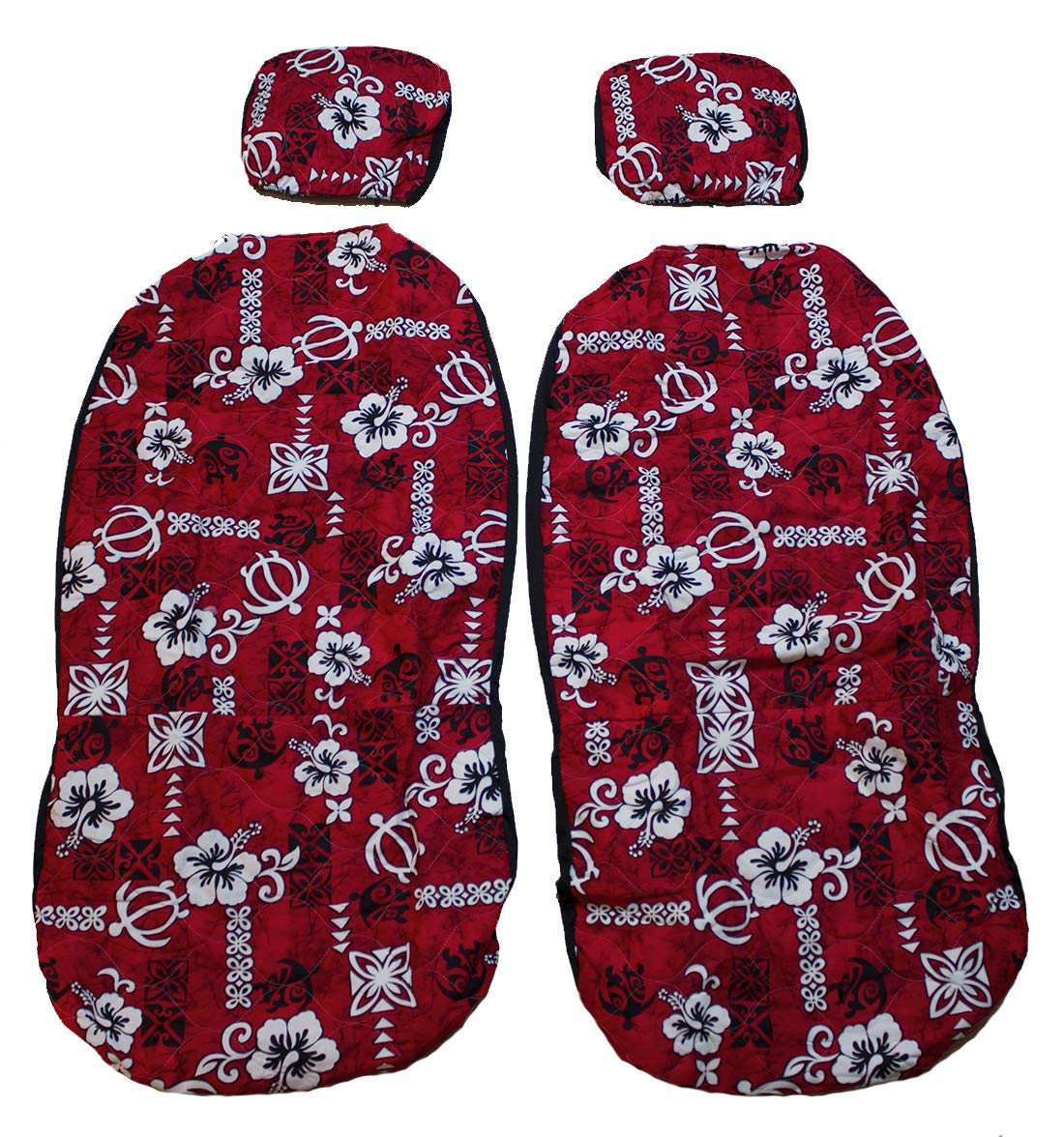 Hawaiian Car Seat Covers >> Hawaiian Car Seat Cover With Separated Headrest Green Surfboard Set Of 2 Front Bucket Seat Covers Made In Hawaii Red