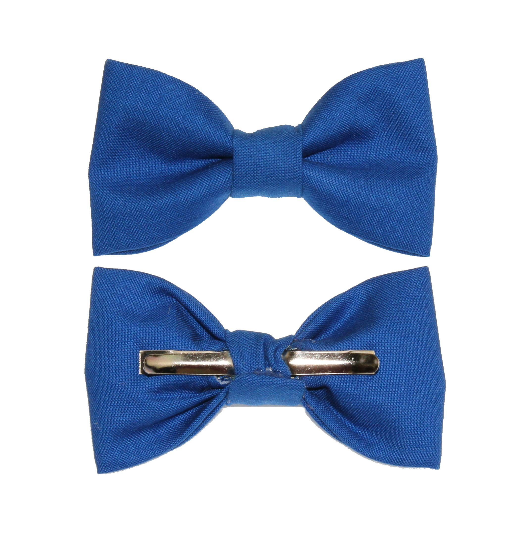 Toddler Boy 4T 5T Royal Blue Clip On Cotton Bow Tie Bowtie - Made in USA