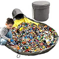 """Toy Storage Bag Basket Large Play Mat 57"""" Toy Clean-up Storage Container Storage Bucket Waterproof Container for Kids…"""