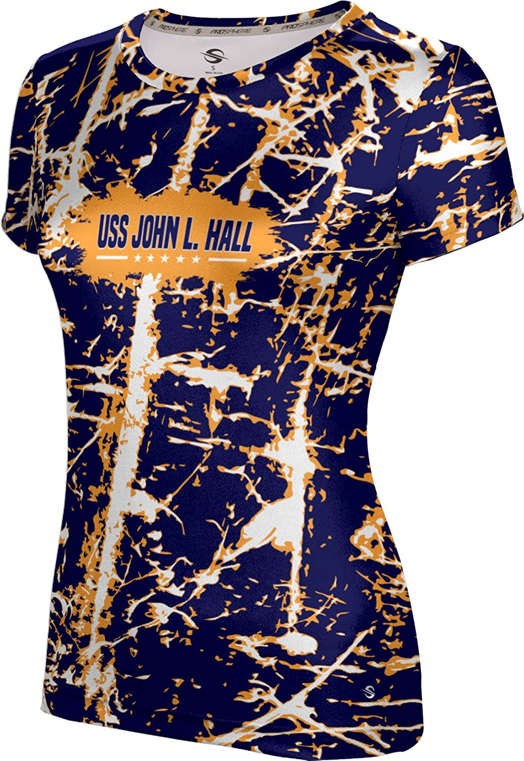 ProSphere Women's USS John L. Hall Military Distressed Tech Tee