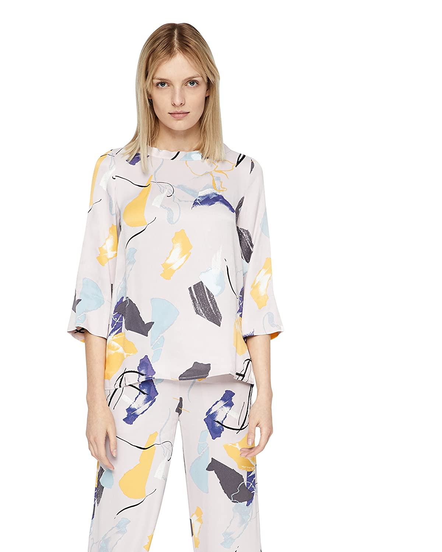 d5a30185e35a76 langlebiger Service nümph Anisha Shirt, Unisex, 40, Mehrfarbig