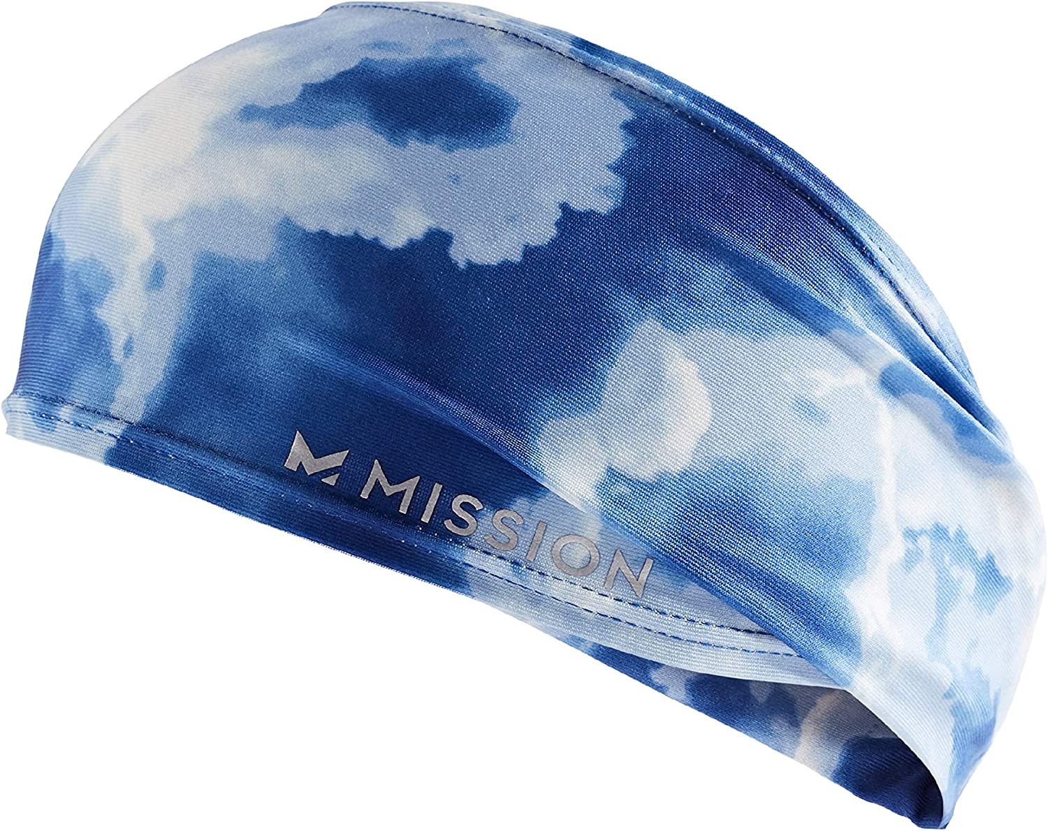 MISSION Cooling Tapered Headband- Cools Instantly When Wet, UPF 50, No Slip