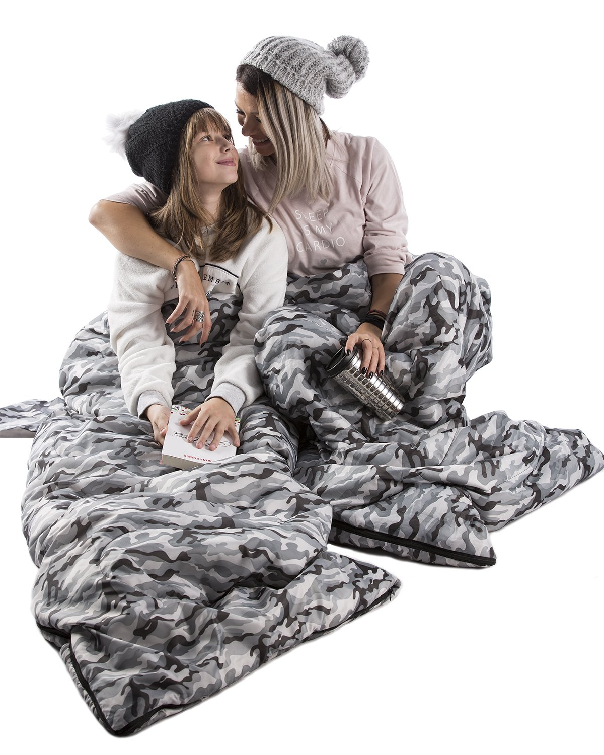 Extra Large 3 Season Waterproof Sleeping Bag for 2 Person Adults Chillax Perfect Sleeping Sack for Couples Backpacking or Hiking WellaX Double Sleeping Bag for Camping