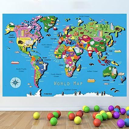 Mapa Del Mundo Infantil.Lagunaproject Mapa Del Mundo De Los Cabritos Educativos