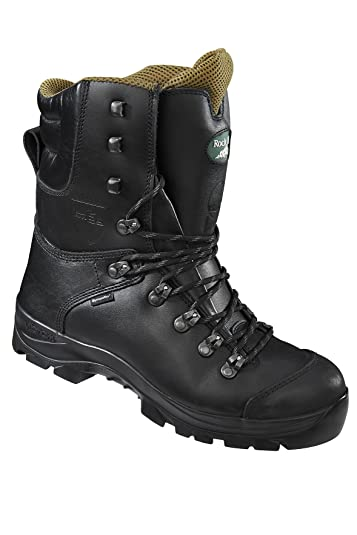 a33d21be779 Rock Fall RF328 Chatsworth Black Chainsaw Boots Kevlar Steel Toe Cap Safety  Boots