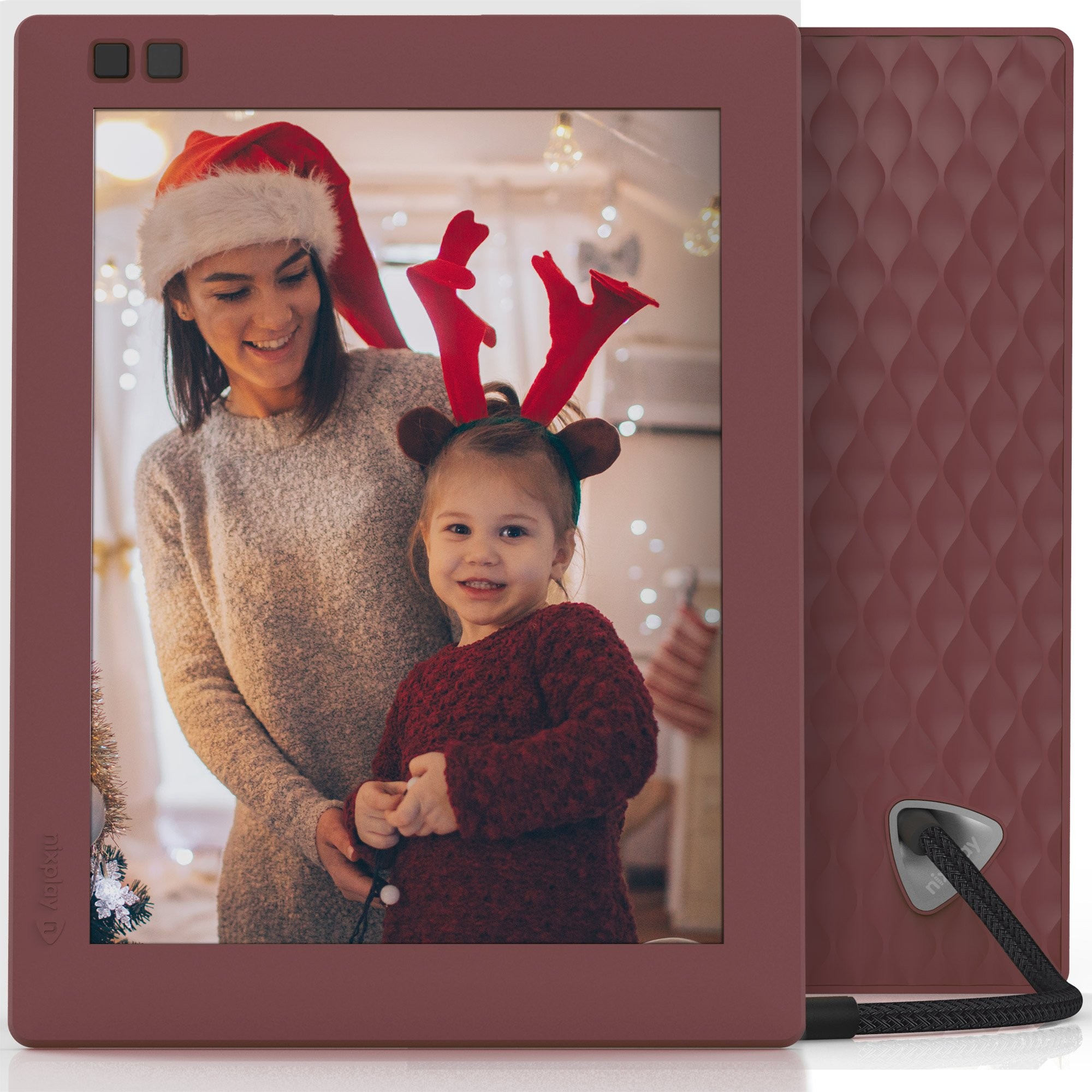 Nixplay Seed 8 inch WiFi Digital Photo Frame - Mulberry by nixplay