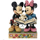 """Disney Traditions by Jim Shore 85th Anniversary Mickey and Minnie Mouse Stone Resin Figurine, 6.5"""""""