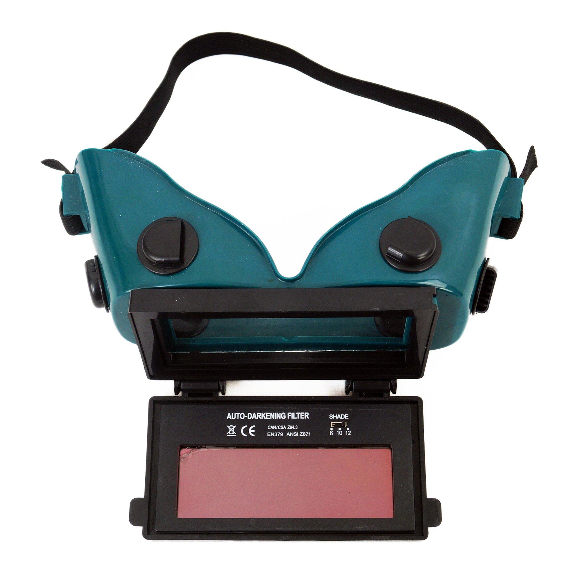 Spargo Auto Darkening LCD Welding Helmet Mask Goggles Solar Welder Eyes Glasses Gas Flip Up Lens Eye Protection by Spargo (Image #3)
