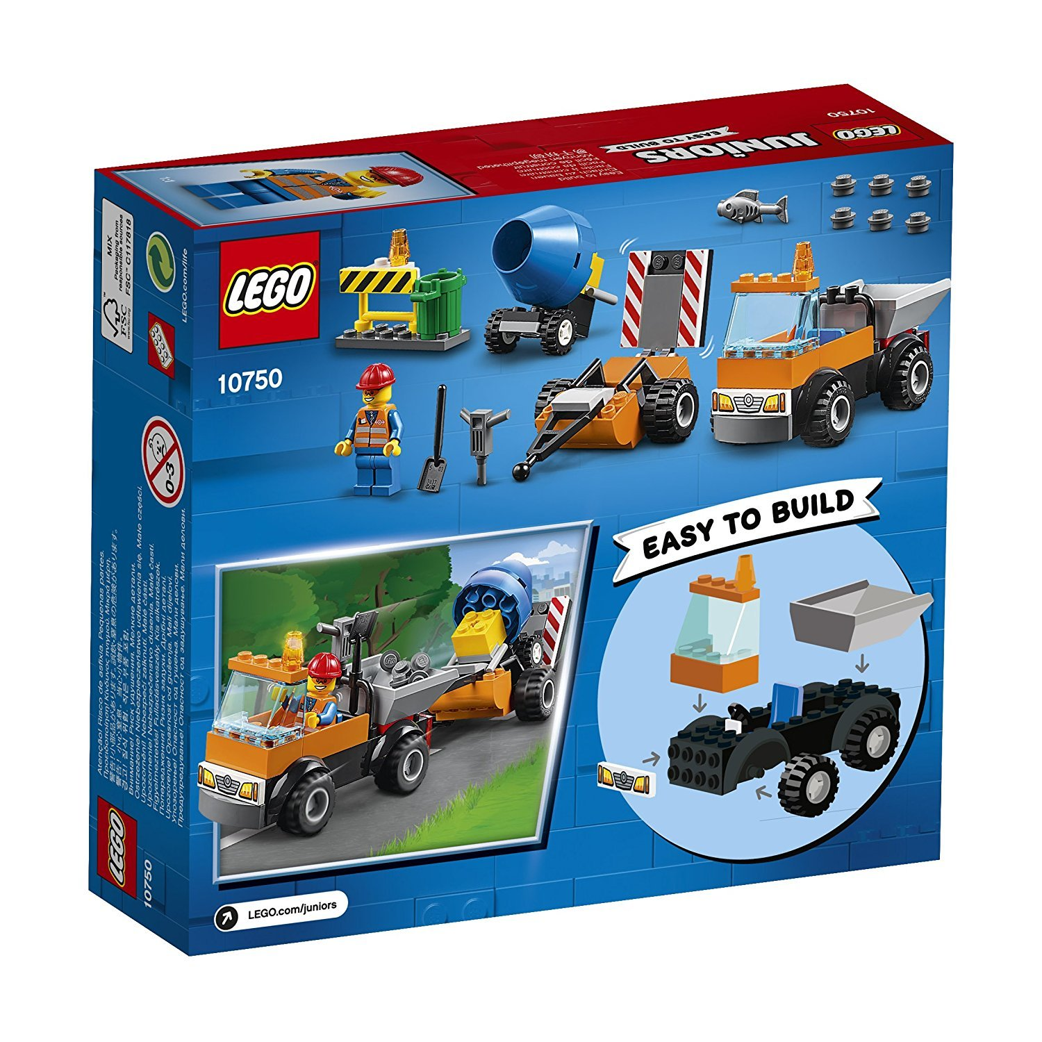 Lego Uk 10750 Juniors Road Repair Truck Toy For Boys And For Girls