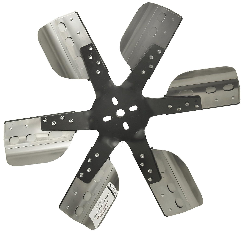 Derale 17617 Heavy Duty Fan Blade Series 1000 17 Stainless Steel Flex Fan Reverse Rotation