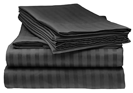 Amazoncom Italian Prestige Collection 4pc Queen Striped Sheet Set