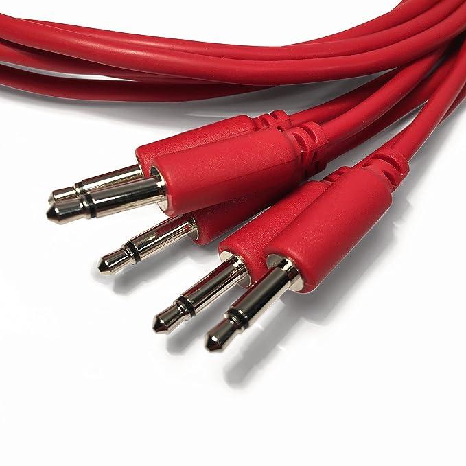 10 couleurs // 5 longueurs C/âbles de raccordement Eurorack Ensemble de 5 c/âbles de raccordement mono tress/és de 3,5 /à 3,5 mm /à utiliser avec les synth/étiseurs modulaires
