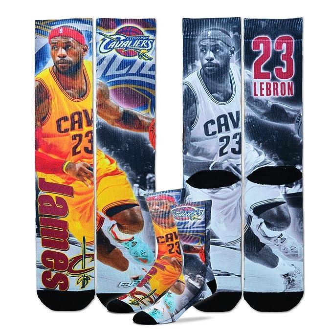 00674f5b028f Amazon.com  Cleveland Cavaliers NBA Drive Crew Socks - Lebron James ...