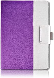 Thankscase Case for iPad Pro 12.9 2017/2015 Release, Rotating Case Cover, Swivel Case Build-in Pencil Holder, Wallet Pocket, Hand Strap. (Not Fit iPad Pro 12.9 2018 Release)-Victorian Purple