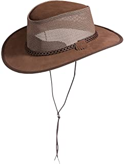 786047b5 Bravo Leather Cowboy Hat at Amazon Men's Clothing store: