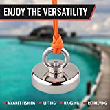 MAGNADIVE Fishing Magnet with Rope - 250 LBS
