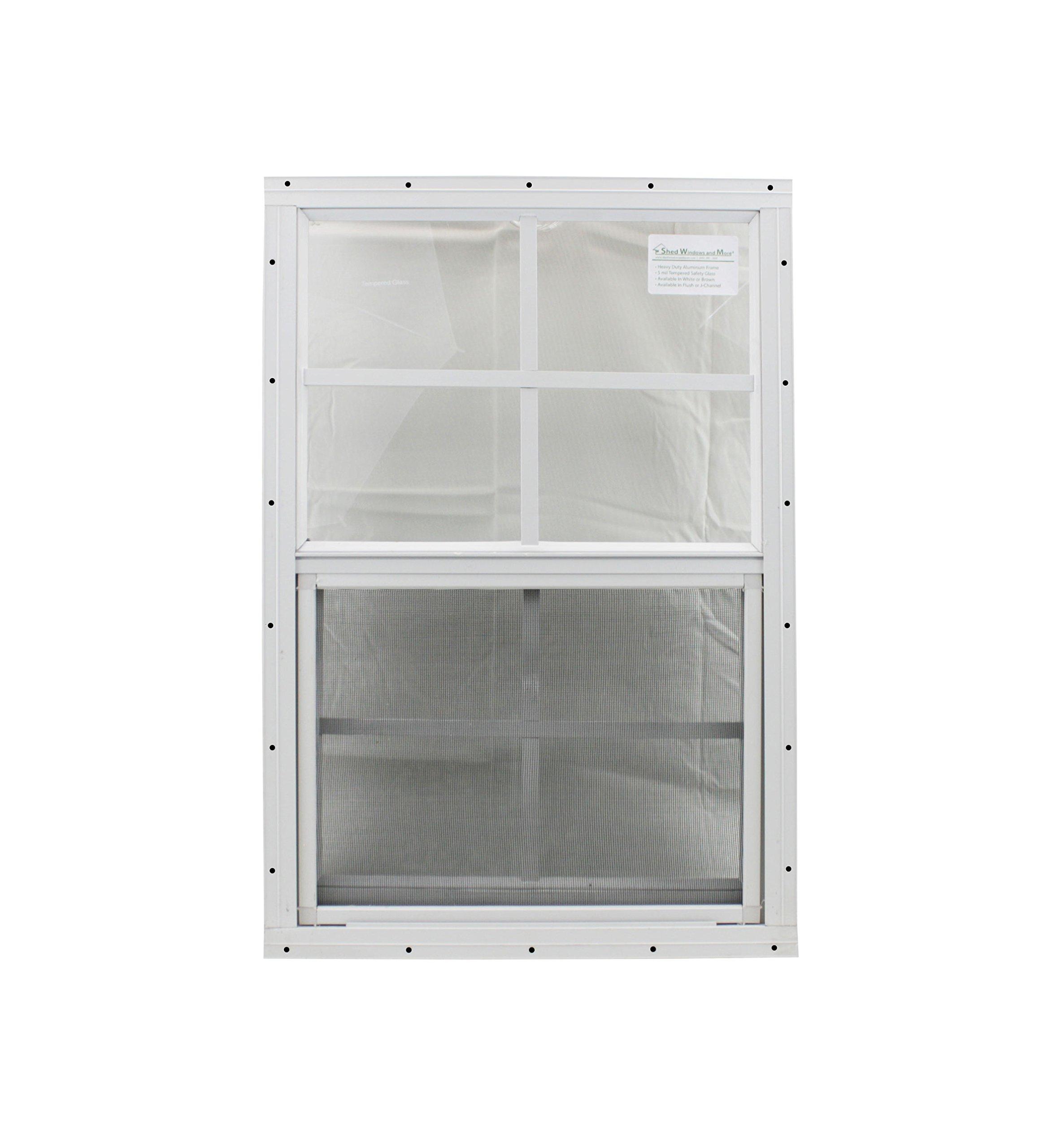 12 X 18 Playhouse Window White J-channel, Chicken Coop Window, Shed Window by Shed Windows and More