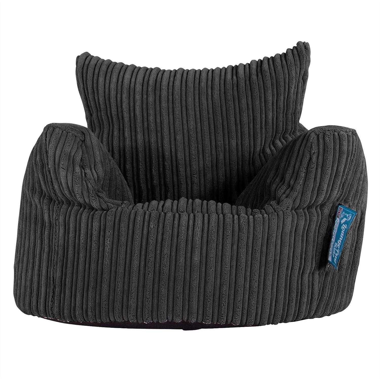 Lounge Pug®, Puff Sillón para niños, Pana Clásica - Negro ...