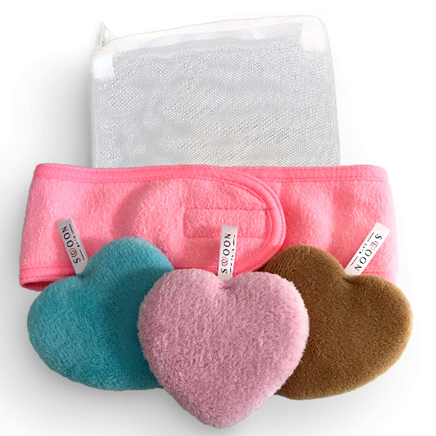 I Heart You Cleansing Kit | Reusable Makeup Remover Pads | Eco Friendly & Zero Waste | Removes all makeup with only water.