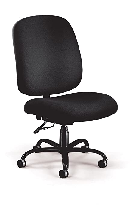 Admirable Ofm Big And Tall Executive Task Chair Armless Fabric Office Chair Black 700 236 Home Interior And Landscaping Ologienasavecom