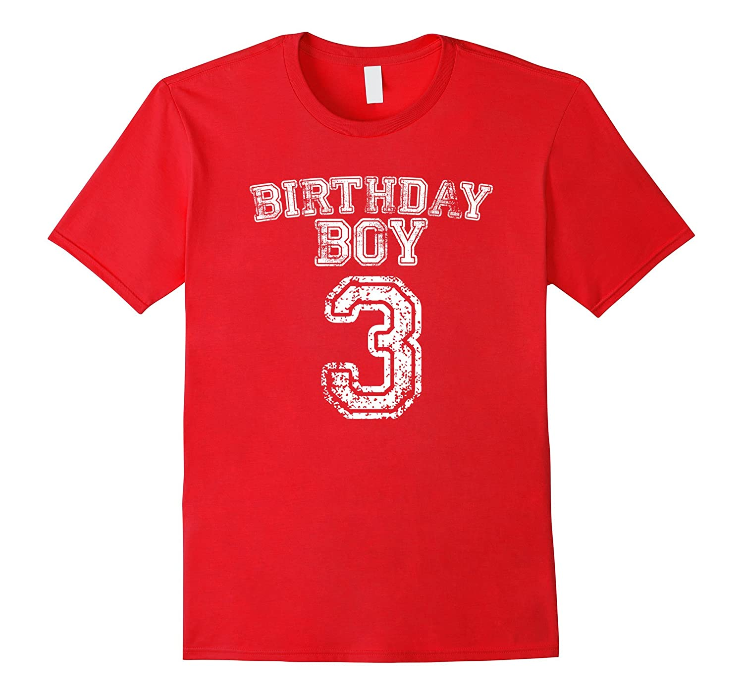 3rd Birthday Sports Jersey T Shirt 3 Year Old Boy Tee CD Canditee