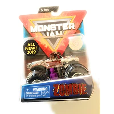 Monster Jam 2020 Crazy Creatures Zombie 1:64 Scale Diecast Truck With Figure and Poster by Spin Master: Toys & Games