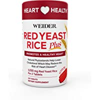 Weider Red Yeast Rice Plus Phytosterols 1200 mg per 2 Tablets 180-Count
