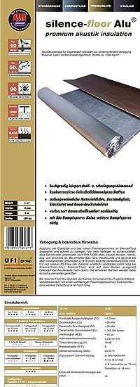 uficell Rollengr/ö/ße: 10 m/² 10 m/² // uficell Silence Floor Akustik Trittschalld/ämmung und Gehschalld/ämmung f/ür Laminat und Parkettb/öden Materialdichte: 1 to//m/³ St/ärke: 2 mm Wir machen Ihren Boden L