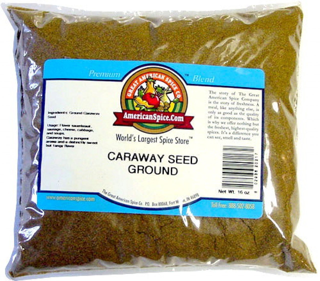 Amazon.com : Caraway Seed Ground, Bulk, 16 oz : Caraway Seeds Spices And Herbs : Grocery & Gourmet Food