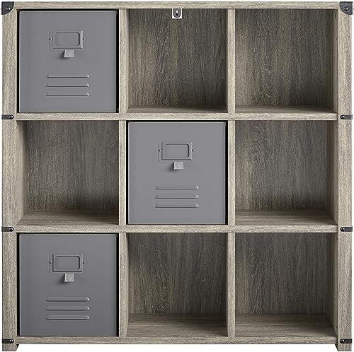 Little Seeds Nova 9 Cube Storage Grey Bookcase