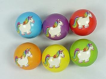 wu47052, 12 unidades antiestrés Softball, diseño unicornio, 6 cm ...