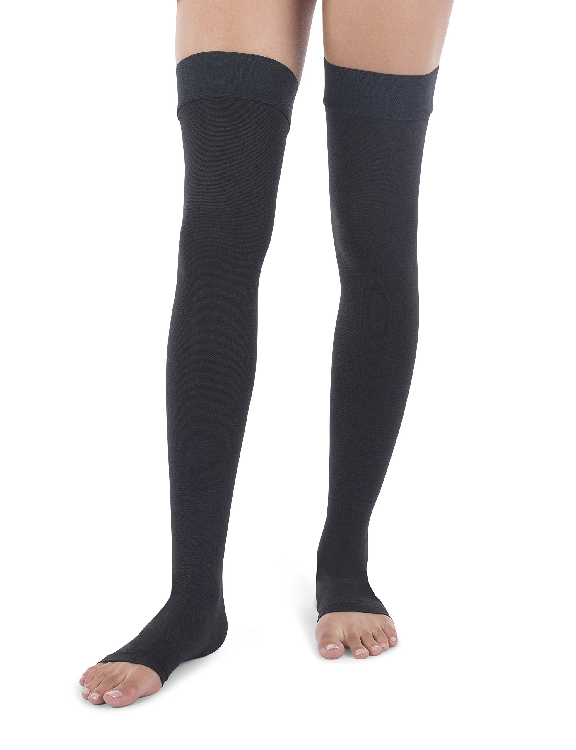 Jomi Compression Thigh High Collection, 20-30mmHg Surgical Weight Open Toe 241 (XX-Large, Black) by JOMI COMPRESSION (Image #6)