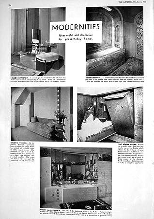 Badezimmer 1930 Haus Möbel Boudoir Pierres Barbe Romanautor Evelyn Waugh