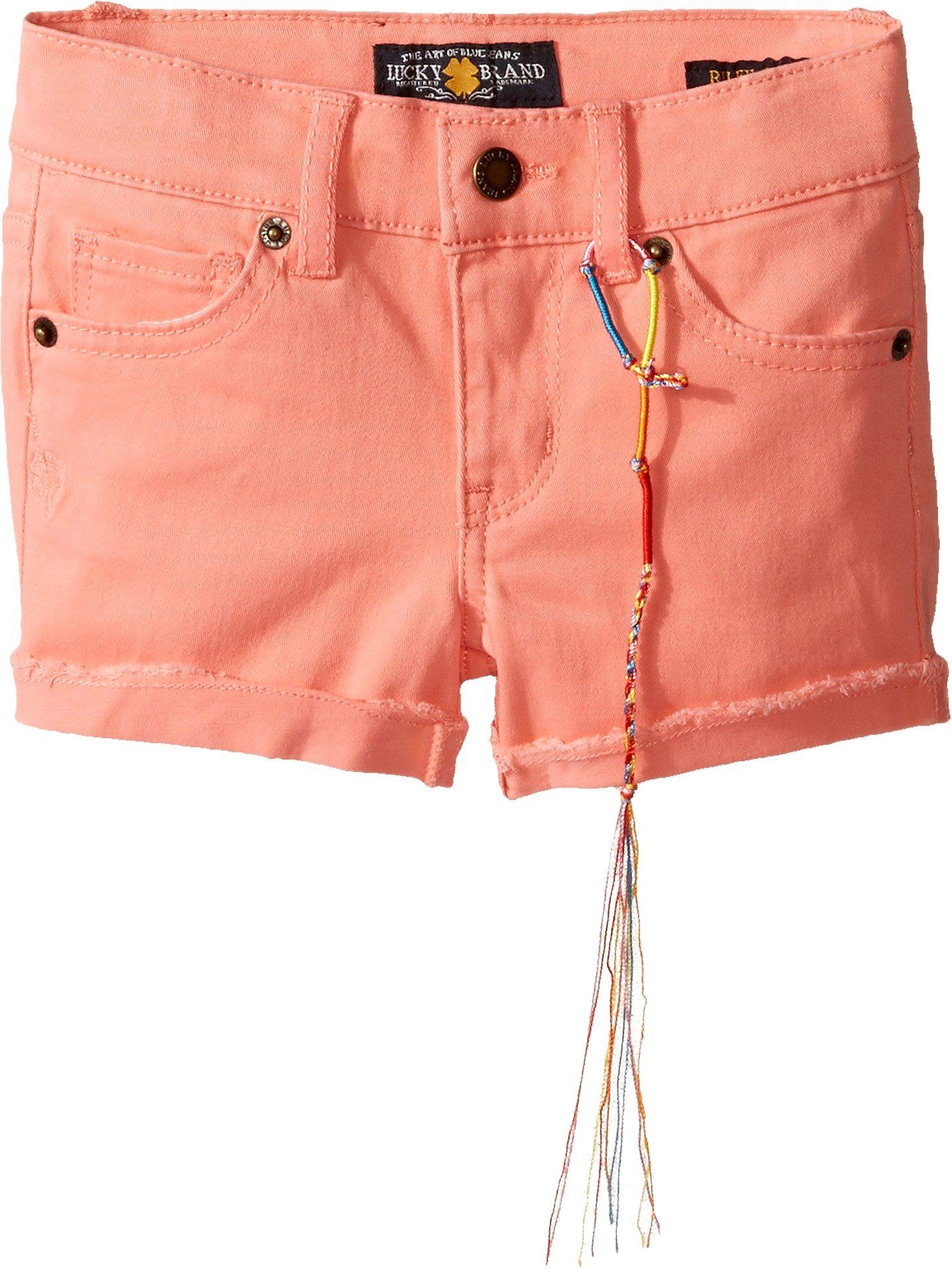 Lucky Brand Kids Baby Girl's Riley Stretch Twill Shorts (Toddler) Shell Pink Shorts