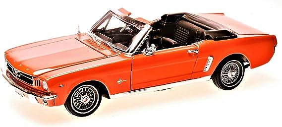 Ford Mustang Cabriolet 1964 1 2 Maßstab 1 18 Von Motor Max Orange Mit Wunschkennzeichen Spielzeug