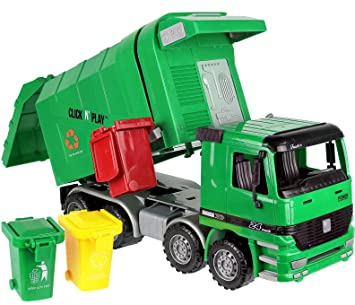 Attractive Click N' Play CNP0301 Friction Powered Garbage Truck Toy with  RF14