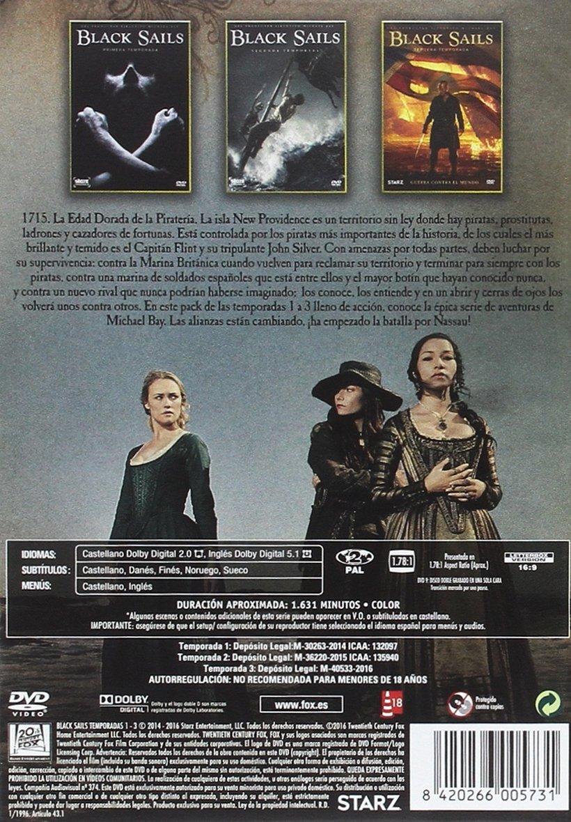 Black Sails Temporadas 1-3 [DVD]: Amazon.es: Zach Mcgowan, Toby Stephens, Sean Cameron Michael, Hannah New, Mark Ryan, Luke Arnold, Jessica Parker Kennedy, ...