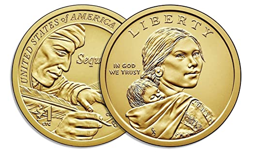 2009 P and D Sacagawea Dollar BU 2 Satin Coins from US Mint Set Native American