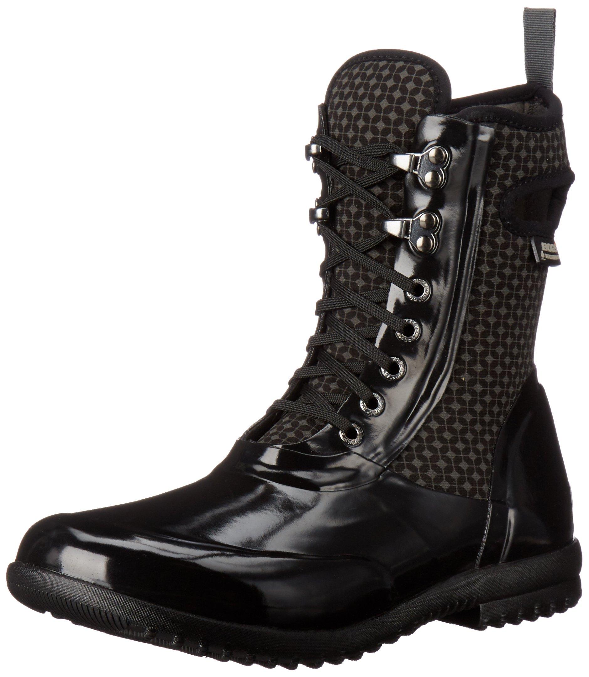 Bogs Women's Sidney Cravat Snow Boot, Black/Multi, 11 M US