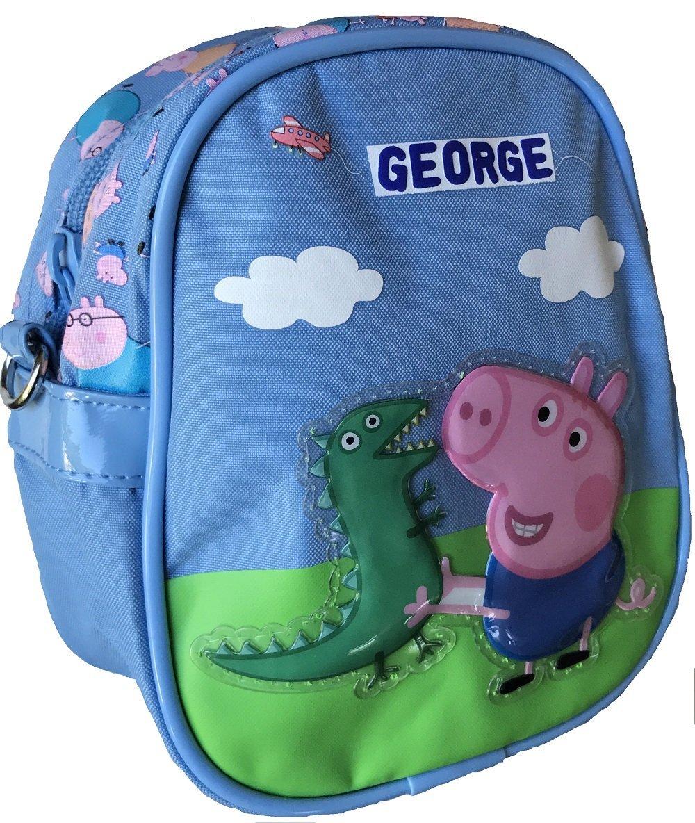 Peppa Pig George Mini Sac /À Bandouli/ère avec George et Mr Dinosaures