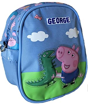 PEPPA PIG GEORGE Mini Bolso bandolera con George y Sr.Dinosaurio: Amazon.es: Equipaje