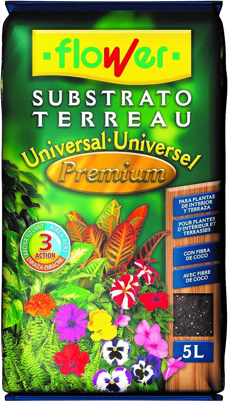 Flower Universal Premium Substrato, 5L, Marrón, 24x4.5x39 cm