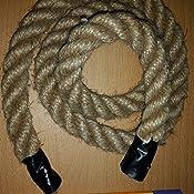 10m 18mm JUTESEIL Naturfasern gedreht Tauwerk Hanf Jute Tau Seil Tauziehen Absperrseil Handlauf