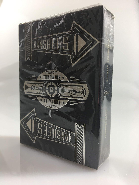 Poker-Karten zum Werfen Kartenspiele Black Cards Online-Instruktionen 2.Edition inkl Wurfkarten Karte LuxTri Banshees Cards for Throwing Spielkarten