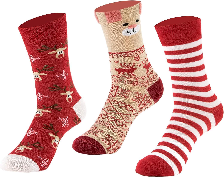 3 Pairs Women Bamboo Dress Socks Medium Size Casual Patterned Antibacterial Grey