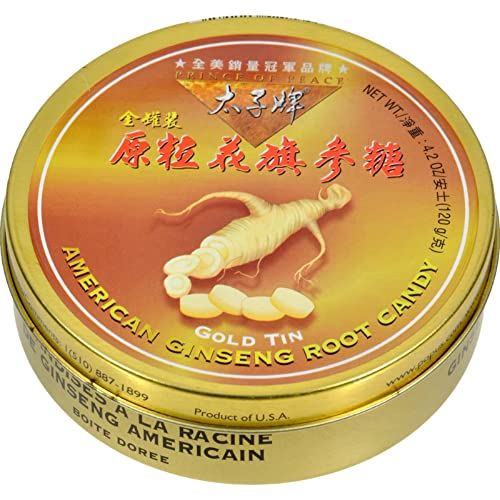 American Ginseng Root Candy Prince Of Peace 1 Tin