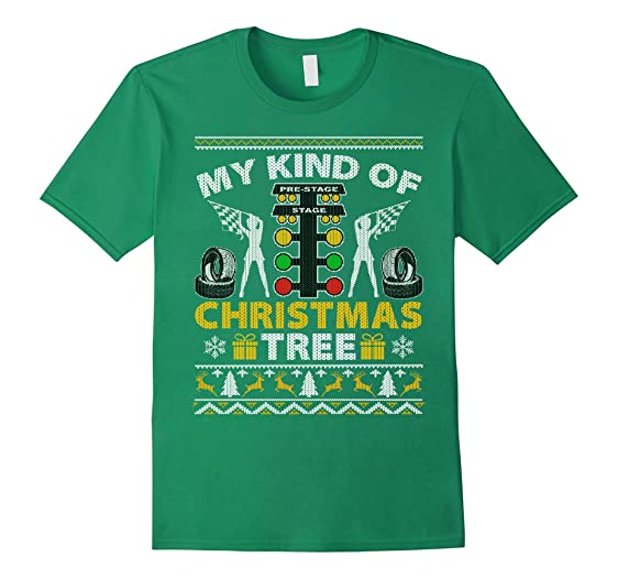 Amazon.com: My Kind Of Christmas Tree Cool Drag Racing T-Shirt ...